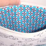 Beach pouch - White and blu..